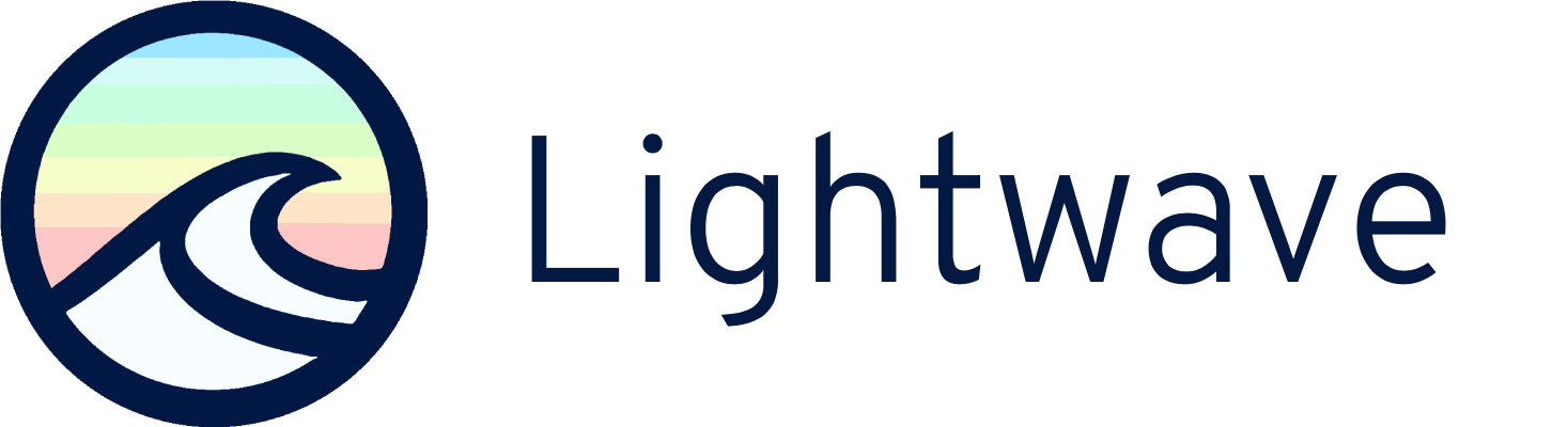 LIGHTWAVE LOGO CIRCLE